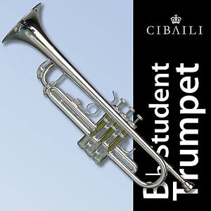 Silver-Plated-Bb-Cibaili-Trumpet-High-Quality-Brand-New-With-Case