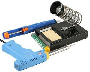 SOLDERING GUN STARTER KIT complete with Gun stand solder desoldering pump 8438640886678
