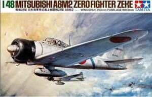 Tamiya 1//48 Mitsubishi A6M2 Zero Fighter # 61016 Zeke