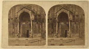 Verona-Sant-039-Zenon-Italia-Foto-Stereo-Stereoview-Vintage-Albumina-c1860