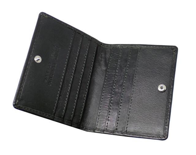 RFID Blocking Ultra Slim Minimalist Leather Wallet Mini Card Case UK 4022 Black
