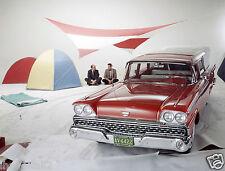 1959  Ford Country Wagon sedan studio press photo 8 x 10 Photograph