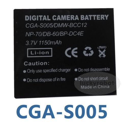 Dmc-fx150 Batería Para Cga-s005e Panasonic Lumix DMC-LX3