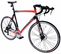 "AMMACO XRS750 MENS 59CM (23"") ALLOY FRAME ROAD RACING BIKE 700C WHEEL DISC BRAKE"