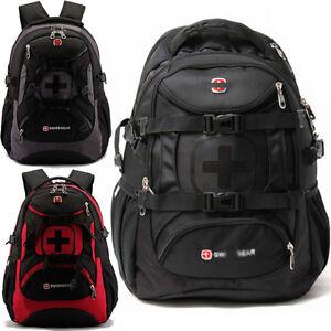 SWISSGEAR-35L-Sports-Backpack-Satchel-Schoolbag-Rucksack-Daypack-Travel-Bag-Pack