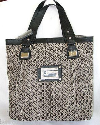 Détails sur Nouveau Guess Gray Noir Signature FX Cuir Large Sacoche Logo Sac à Main Épaule Sac afficher le titre d'origine