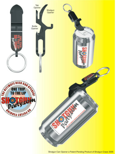 SHOTGUN KEY CHAINBeer Bong for CansMADE IN USA Black