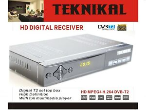 Details about Teknikal HD Freeview Set Top Box Player & Recorder For  Digital UK TV Channels