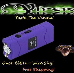 Details about ViperTek Stun Gun Purple 50 Billion volt Rechargeable LED  light + Holster