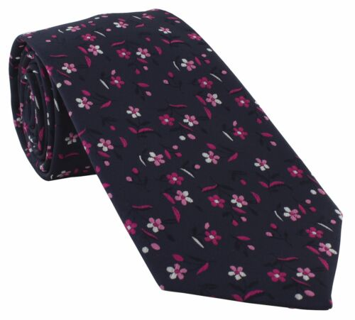 Small Bold Floral Polyester Tie