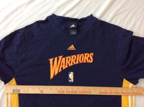 f61cad9c3da 8 of 10 Adidas NBA Golden State Warriors Short Sleeve T Shirt Mens Size LG  Cotton