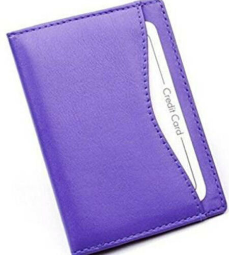 Purple Soft Nappa Leather Travel Buss Pass Oyster Card ID Holder Golunski TP1