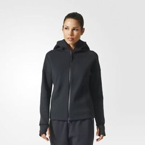 Image is loading Adidas-BR1933-Women-ATHLETICS-ZNE-Hoodie-Track-Top-