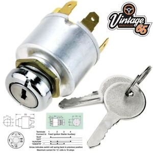 Details about Volkswagen Beetle Camper T1 T2 4 Position Universal  Replacement Ignition Switch