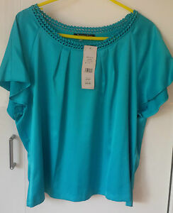 JACQUES-VERT-LADIES-WOMENS-VERY-PRETTY-BLUE-TOP-BLOUSE-SIZE-UK-20-RRP-79