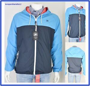 promo code a82f3 42c32 Detalles de giubbotto giubbino estivo da uomo blu xxl 52 54 giacca a vento  leggera primavera