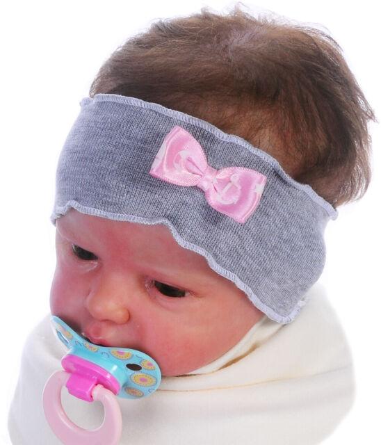 Haarband Stirnband Haarschmuck ab 0 Mon Baby /& Kinder Kopfschmuck Weiß Taufe NEU