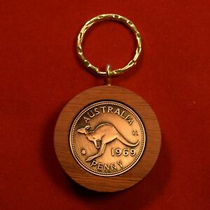 50th-Wedding-Anniversary-Gift-w-1969-Jarrah-Penny-Keyring-Other-years-available