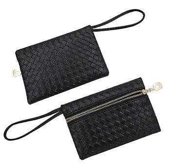 Mini Handtasche kleine Tasche schwarz silber gold Clutch Party Style PU Leder