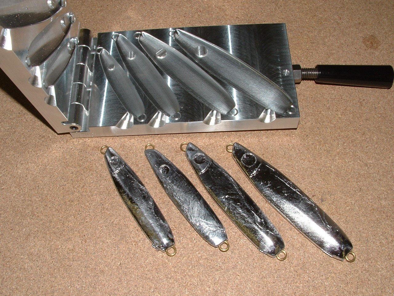Saltwater B Jig -2  mold 2, 4, 6, 8oz Flutter jig CNC Aluminum