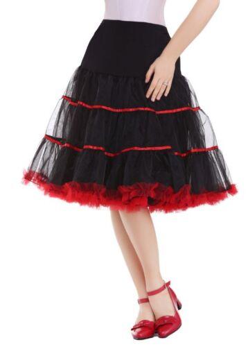 DE Petticoat Unterrock Rockabilly 50er 60er Jahre Dirndl Röcke Kristall Dresses