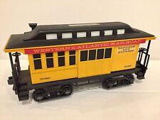 Jim Beam Whiskey Western & Atlantic Railroad Yellow Baggage Car Train Decanter