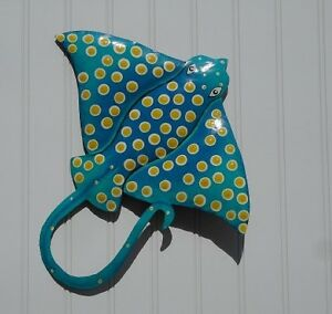 Image Is Loading Outdoor Haitian 13 034 Teal Metal Eagle Ray