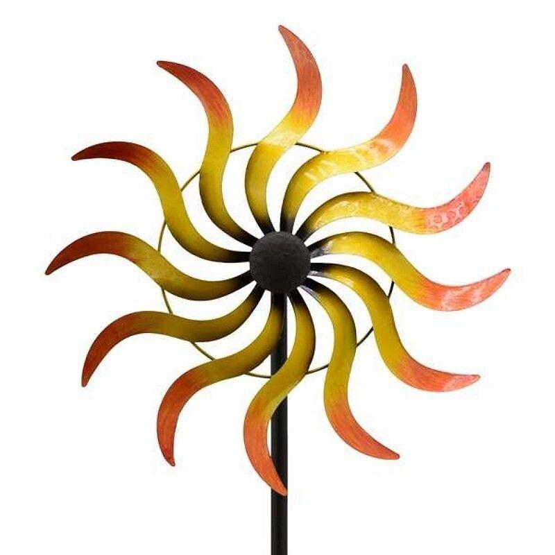 CAROLINE großes Windrad Windspiel Sonne Metall 169cm Ø42cm | Geeignet für Farbe  | Modern Und Elegant In Der Mode  | Bekannt für seine hervorragende Qualität