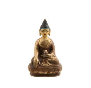 Soprammobile Tibetano Da Budda Dhyani Rame E Doratura 1652