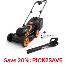FREE 2-Speed Turbine Blower WG547 W/ 20V Cordless Mower WG779, 20% off:PICK2SAVE