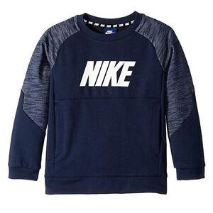 4292e4742ca7 Nike Kids Sportswear Advance 15 Crew Little Kids Obsidian White ...