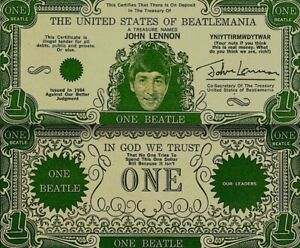 Beatles-1964-Vintage-Money-John-Lennon-One-Beatles-Dollar-Bill-NM-COA