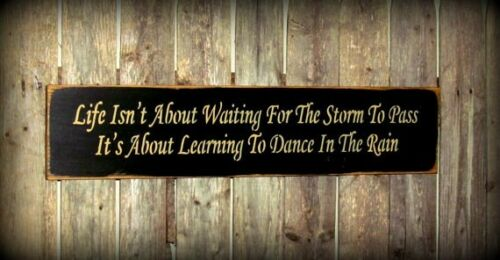 Wood Inspirational Sign Storms To Pass Wooden Sign Black Sign