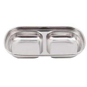 Grids-Stainless-Steel-Sushi-Sauce-Dip-Spices-Dish-Bowl-Snack-Plate-Table-Home-Q