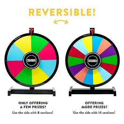 "24/"" Heavy Duty Spinning Prize Wheel 14 Slots Tabletop Prize Wheel Spinner BA"