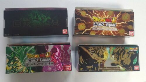 Dragon Ball Super Special Anniversary Collectible Storage Box SET ALL 4 ARTS
