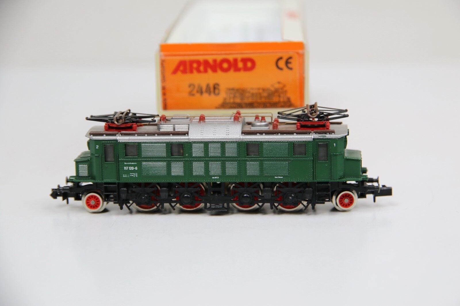 Arnold Spur N 2446 E-Lok BR 117 120-6 grün der der der DB in OVP (RB8169)  | Guter weltweiter Ruf  910b84