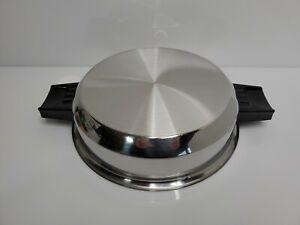 Vintage-Lustre-Craft-Stainless-Steel-Stock-Pot-Domed-Lid-USA