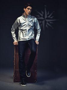 Veste l g re coupe vent imperm able homme argent effet metallique marque 2786 ebay - Coupe vent impermeable homme ...