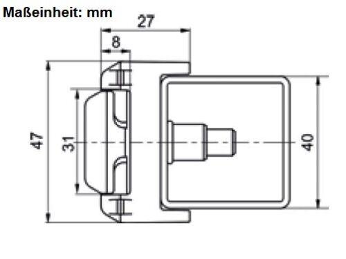 Montage Klammer Griff Gitterstabmattenzaun Zaunbau Zaunmontage Klemmplatte Zaun