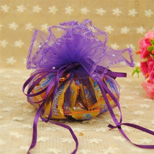10 Pcs//lot Organza Bags Creative Candy Package Handmade Round Engagement Wedding