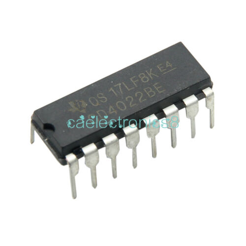 10PCS CD4022BE DIP-16 CD4022 DIP16 TI CMOS Counter Dividers NEW
