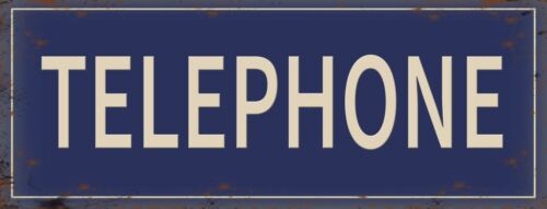 New 40x15cm Telephone reproduction vintage retro metal advertising wall sign