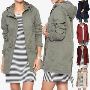 TheMogan-Women-039-s-Military-Washed-Twill-Hooded-Utility-Anorak-Jacket-Outer-S-3XL