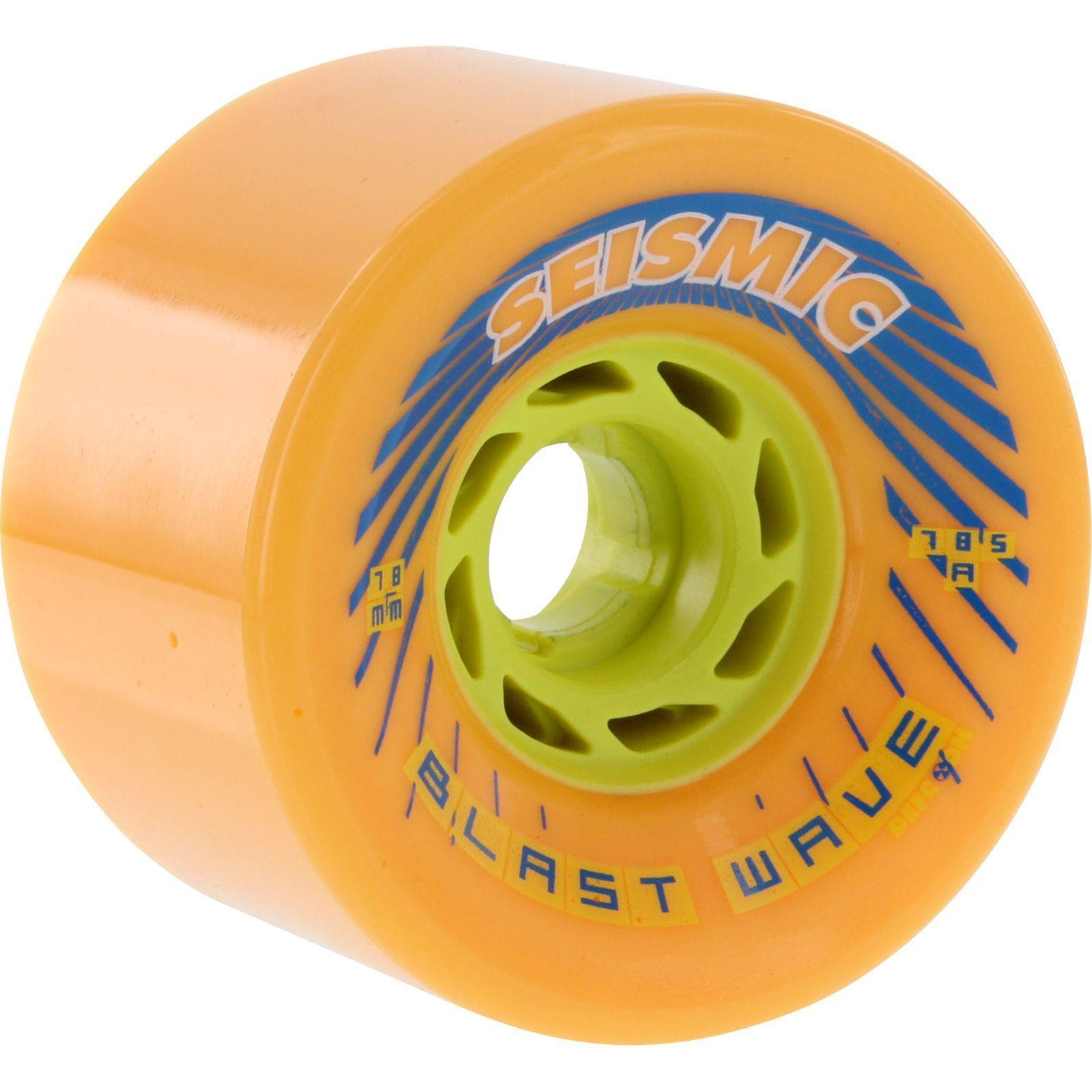 Seismic Blast Wave 78mm 78.5a Mango Defcon Longboard Wheels (Set of 4)