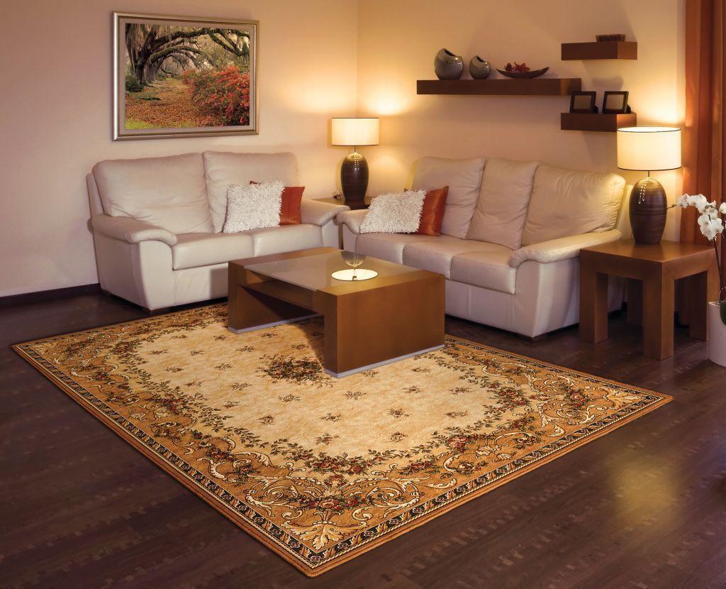 Alfombra oriental persisches Design 100% lana alrojoedor de forma ovalada y rectangular