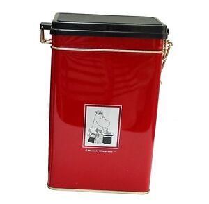 moomin kaffe tee blechdose moomin charaktere rot mit schwarz deckel martinex ebay. Black Bedroom Furniture Sets. Home Design Ideas
