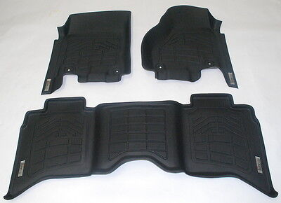 2014 GMC Sierra 1500 Double Cab Combo Pack Front & 2nd Row Floor Mats - Black