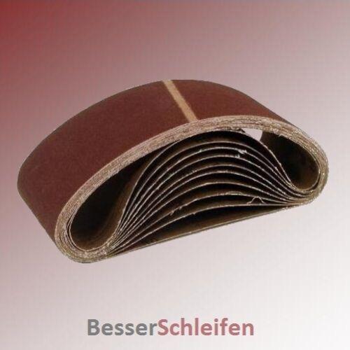 10 abrasifs schleifband 75x480 mm grain p60 par exemple pour DEWALT et Elu