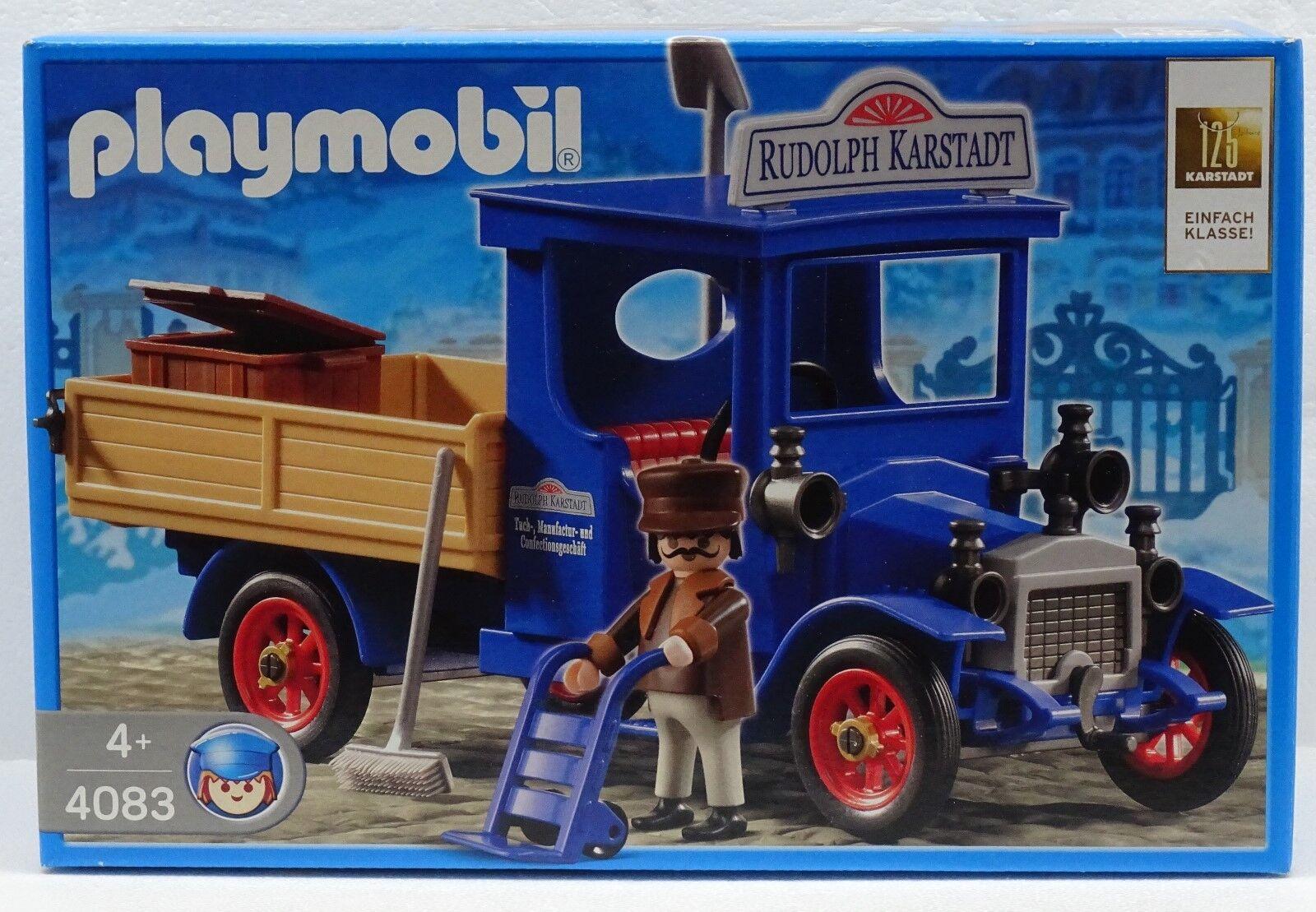Karstadt Oldtimer Camion Playmobil 4083 V. `06  per Trasporto Unione Ovp Nuovo  controlla il più economico
